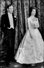 """Princess Margaret and Antony Armstrong-Jones"" on Madame Tussaud's wax cabinet"