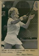 Carin Vexell in action during the Swedish Open 1985