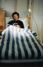 Lennart Ekmark, Head of Assortment Development at IKEA. He is embedded in one of the department stores' beds.