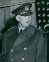 General Dwight D. Eisenhower photographed on arrival at Northolt Airport