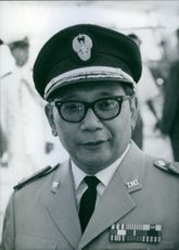 Close up of Indonesian politicians Major-General Suprajogi