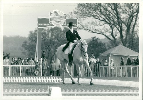 British equestrian Lucinda Green on horse 'Willy B'