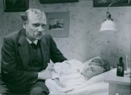 Nils Lundell and Helle Winther in a scene from the 1936 Swedish film,