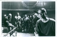 """1992 Sigourney Weaver and the other casts from the 1992 science-fiction horror film """"Alien 3""""."""