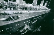 One of the many scenes from the movie, Titanic.