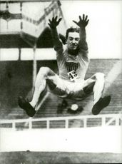 Olympic jumper Frank Irons jumped 7.48 meters.