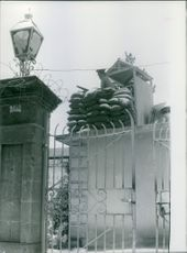 A military on guard to a high post in Russia