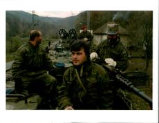 A group of Krajina Serb soldiers.