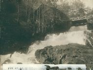 Sater. One of the waterfalls in the Säter Valley