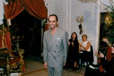 John Galliano after his fashion show ended