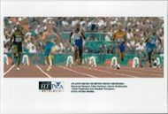 Raymond Steward, Peter Karlsson, Darren Braithwaite, Frank Fredericks and Obadele Thompson at 100m under the Olympic Games in Atlanta 1996