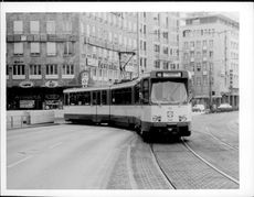 Tram in Frankfurt am Main.