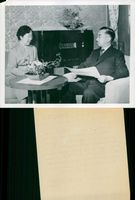 Emperor Hirohito with his wife Nagako in home environment