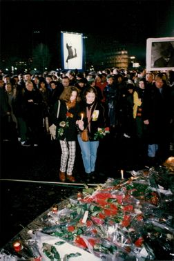 Memorial ceremony for the Lost President François Mitterrand at the Place de la Bastille