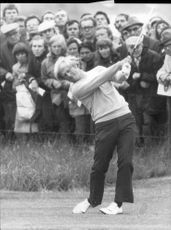 Golf player Jack Nicklaus during the British Open 1975