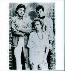 Andrew McCarthy, Jon Cryer and Molly Ringwald striking a pose from the movie Pretty in Pink, 1986.