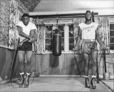 Floyd Patterson exercising.