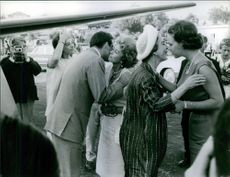 Princess Alexia of Greece and Denmark is greeting the elders. 1972