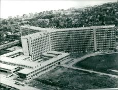 View of Rumania; the hospital of Constanta, the hospital was completed in 1971.