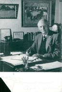 Viscount Montgomery at his office