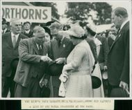 Royal Norfolk Show: His Majesty and Mr. A. Mackinnon