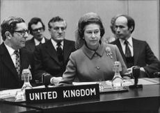 Queen Elizabeth II during conference