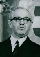 Portrait of Hungarian politician Antal Apro, 1971.  Speaker of Parliament since May 1971; born 1913; joined Communist Party 1931; General Secretary Trade Union Council 1948-51; Minister of Industry 1956-57; First Deputy Prime Minister 1958-61; Deputy Prim