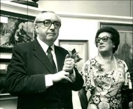 Lord George Brown with Jean Bendit Zucker at the House of Commons