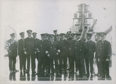 Admiral Scheer with officers, 1916.
