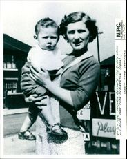 Michael Bettaney with his aunt