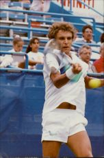 Mats Wilander during the loss match against Argentine Alberto Mancini