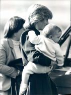 Princess Diana together with little Prince William