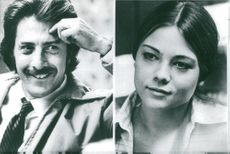 """Dustin Hoffman and Teresa Russel who play the lead role in Ulu Grosbard's """"Straight Time""""."""