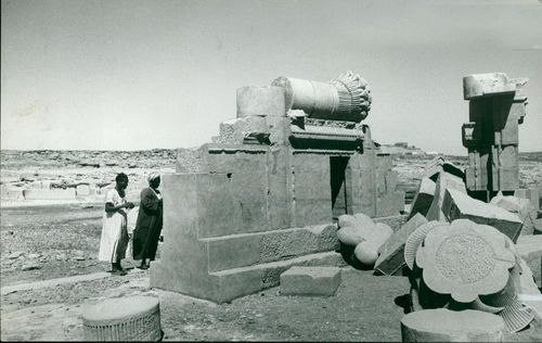 Nubian valley Egypt: temple remains.
