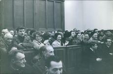 A crowd witnessing a session. 1974