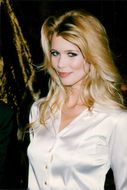 Claudia Schiffer at the unveiling of a wax sculpture depicting her at the Musee Grevin
