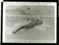 Pär Arvidsson in action on 100 m butterfly