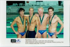 Swedish gentlemen who competed in swimming 4-100 meters.