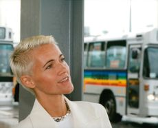 Marie Fredriksson in Roxette at the start of their European Tour