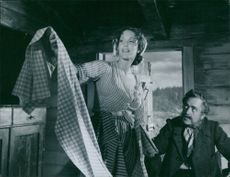 Eva Dahlbeck in a scene from the film Only a Mother, 1949.