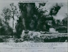 The Bois des Caures targeted by German guns.