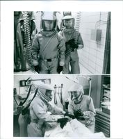 Two scenes from the film Outbreak.1995