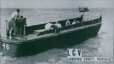 The LCV, similar to LCVP, used for landing troops and light vehicles.  - 1944