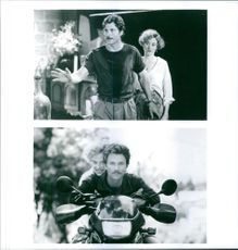 """Tim Daly and Penelope Ann Miller starring in a 1992 romantic comedy adventure film, """"Year of the Comet."""""""