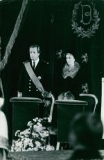 Albert II of Belgium and Queen Paola of Belgium in a ceremony.