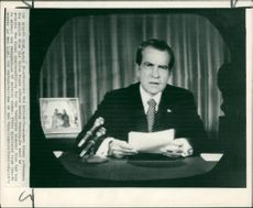 Richard Nixon 37th U.S. President talks to the nation.