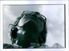 Low angle view of a woman.