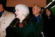 "Actor Paul Newman and his wife Joanne Woodward at the premiere of the movie ""By Your Side"""