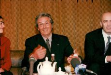Actor Alain Delon at the meeting to support his friend General Alexander Lebed