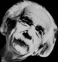 Portrait image of Professor Albert Einstein taken in an unknown context.
